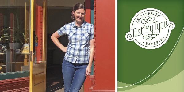 Lynn Jones standing in front of her store.