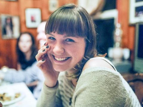 Photo of Jacqueline Themel smiling.